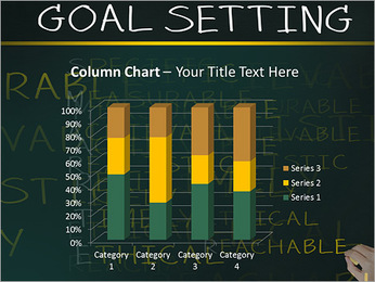 Business hand writing concept of smarter goal or objective setting - specific - measurable - achiev PowerPoint Template - Slide 30