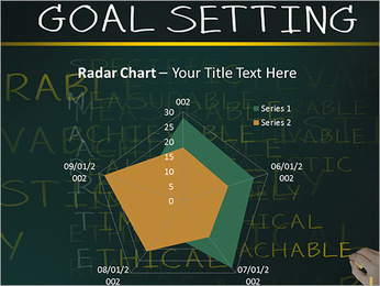Business hand writing concept of smarter goal or objective setting - specific - measurable - achiev PowerPoint Template - Slide 31