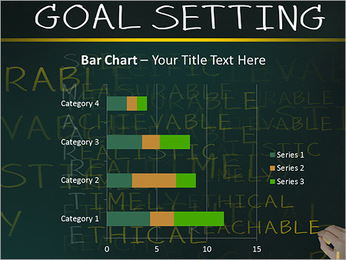 Business hand writing concept of smarter goal or objective setting - specific - measurable - achiev PowerPoint Templates - Slide 32