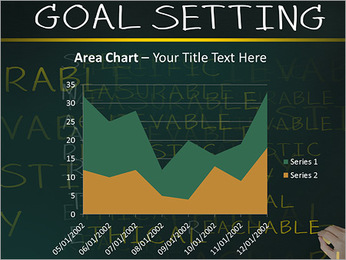 Business hand writing concept of smarter goal or objective setting - specific - measurable - achiev PowerPoint Templates - Slide 33