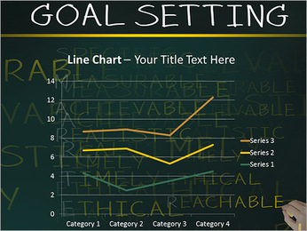 Business hand writing concept of smarter goal or objective setting - specific - measurable - achiev PowerPoint Template - Slide 34