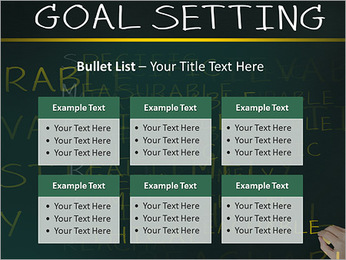 Business hand writing concept of smarter goal or objective setting - specific - measurable - achiev PowerPoint Templates - Slide 36
