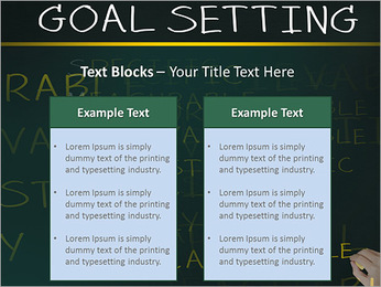 Business hand writing concept of smarter goal or objective setting - specific - measurable - achiev PowerPoint Template - Slide 37