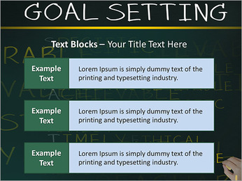 Business hand writing concept of smarter goal or objective setting - specific - measurable - achiev PowerPoint Templates - Slide 38