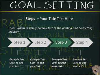 Business hand writing concept of smarter goal or objective setting - specific - measurable - achiev PowerPoint Template - Slide 4