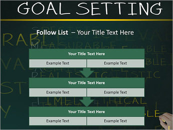 Business hand writing concept of smarter goal or objective setting - specific - measurable - achiev PowerPoint Templates - Slide 40
