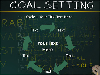 Business hand writing concept of smarter goal or objective setting - specific - measurable - achiev PowerPoint Templates - Slide 42