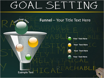 Business hand writing concept of smarter goal or objective setting - specific - measurable - achiev PowerPoint Templates - Slide 43