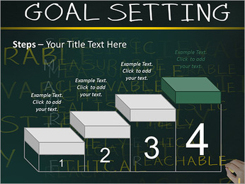Business hand writing concept of smarter goal or objective setting - specific - measurable - achiev PowerPoint Template - Slide 44