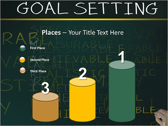 Business hand writing concept of smarter goal or objective setting - specific - measurable - achiev PowerPoint Template - Slide 45