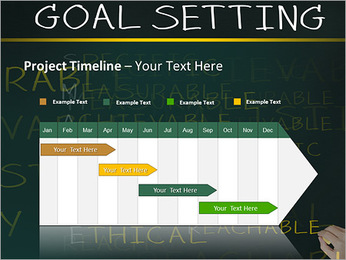 Business hand writing concept of smarter goal or objective setting - specific - measurable - achiev PowerPoint Templates - Slide 5