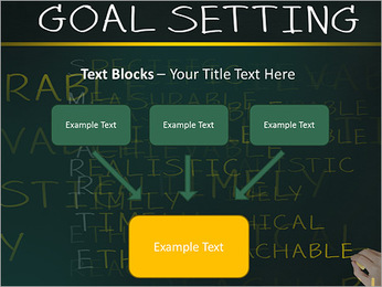 Business hand writing concept of smarter goal or objective setting - specific - measurable - achiev PowerPoint Template - Slide 50