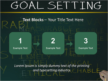 Business hand writing concept of smarter goal or objective setting - specific - measurable - achiev PowerPoint Templates - Slide 51