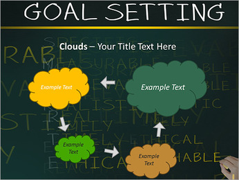 Business hand writing concept of smarter goal or objective setting - specific - measurable - achiev PowerPoint Templates - Slide 52