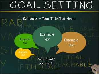 Business hand writing concept of smarter goal or objective setting - specific - measurable - achiev PowerPoint Templates - Slide 53