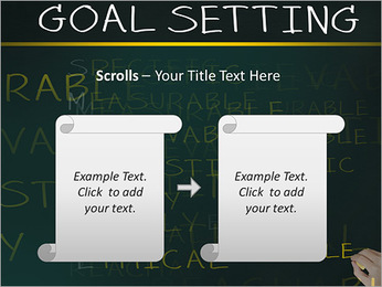 Business hand writing concept of smarter goal or objective setting - specific - measurable - achiev PowerPoint Templates - Slide 54