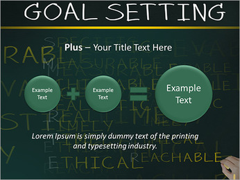 Business hand writing concept of smarter goal or objective setting - specific - measurable - achiev PowerPoint Templates - Slide 55