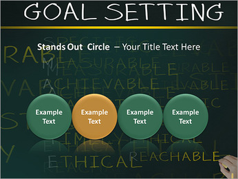 Business hand writing concept of smarter goal or objective setting - specific - measurable - achiev PowerPoint Template - Slide 56