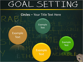 Business hand writing concept of smarter goal or objective setting - specific - measurable - achiev PowerPoint Template - Slide 57