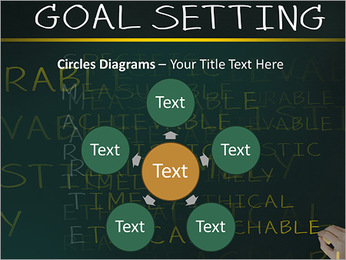 Business hand writing concept of smarter goal or objective setting - specific - measurable - achiev PowerPoint Templates - Slide 58