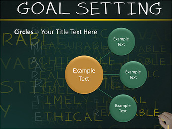 Business hand writing concept of smarter goal or objective setting - specific - measurable - achiev PowerPoint Templates - Slide 59