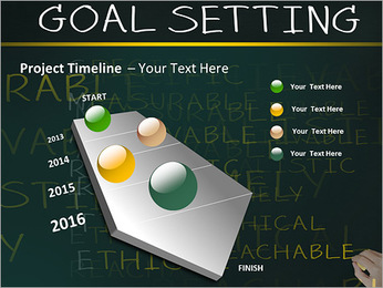 Business hand writing concept of smarter goal or objective setting - specific - measurable - achiev PowerPoint Templates - Slide 6