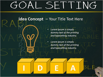 Business hand writing concept of smarter goal or objective setting - specific - measurable - achiev PowerPoint Templates - Slide 60