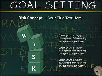 Business hand writing concept of smarter goal or objective setting - specific - measurable - achiev PowerPoint Template - Slide 61