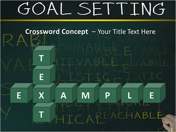 Business hand writing concept of smarter goal or objective setting - specific - measurable - achiev PowerPoint Templates - Slide 62