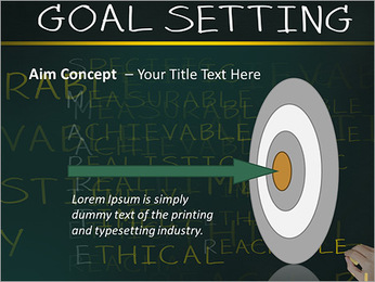 Business hand writing concept of smarter goal or objective setting - specific - measurable - achiev PowerPoint Template - Slide 63