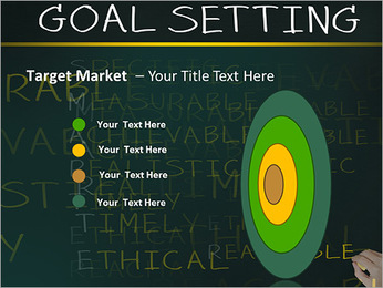 Business hand writing concept of smarter goal or objective setting - specific - measurable - achiev PowerPoint Templates - Slide 64