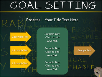Business hand writing concept of smarter goal or objective setting - specific - measurable - achiev PowerPoint Templates - Slide 65