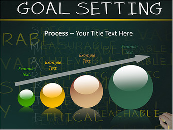 Business hand writing concept of smarter goal or objective setting - specific - measurable - achiev PowerPoint Template - Slide 67