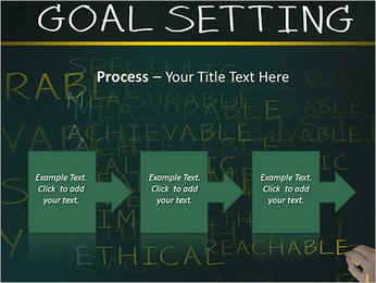 Business hand writing concept of smarter goal or objective setting - specific - measurable - achiev PowerPoint Template - Slide 68