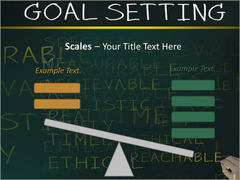 Business hand writing concept of smarter goal or objective setting - specific - measurable - achiev PowerPoint Template - Slide 69