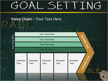 Business hand writing concept of smarter goal or objective setting - specific - measurable - achiev PowerPoint Templates - Slide 7