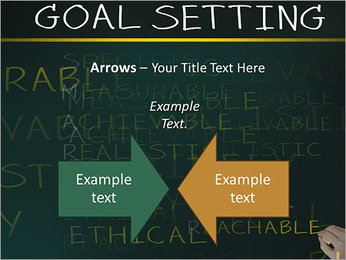 Business hand writing concept of smarter goal or objective setting - specific - measurable - achiev PowerPoint Templates - Slide 70