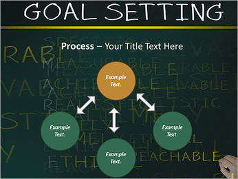 Business hand writing concept of smarter goal or objective setting - specific - measurable - achiev PowerPoint Template - Slide 71