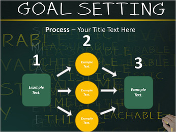 Business hand writing concept of smarter goal or objective setting - specific - measurable - achiev PowerPoint Templates - Slide 72