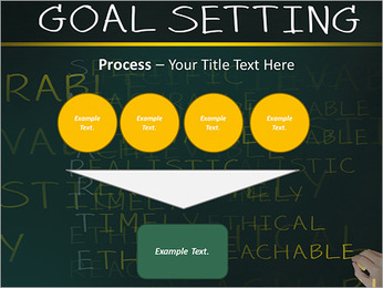Business hand writing concept of smarter goal or objective setting - specific - measurable - achiev PowerPoint Template - Slide 73