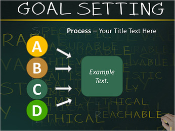 Business hand writing concept of smarter goal or objective setting - specific - measurable - achiev PowerPoint Template - Slide 74