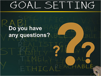 Business hand writing concept of smarter goal or objective setting - specific - measurable - achiev PowerPoint Template - Slide 75