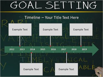 Business hand writing concept of smarter goal or objective setting - specific - measurable - achiev PowerPoint Templates - Slide 8