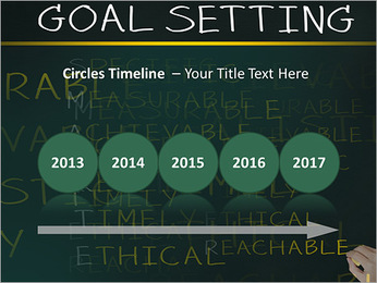 Business hand writing concept of smarter goal or objective setting - specific - measurable - achiev PowerPoint Templates - Slide 9
