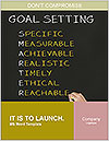 Business hand writing concept of smarter goal or objective setting - specific - measurable - achiev Word Templates - Page 1