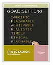 Business hand writing concept of smarter goal or objective setting - specific - measurable - achiev Word Templates