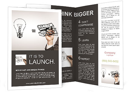 Hand drawing idea is money concept Brochure Template