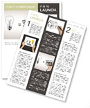 Hand drawing idea is money concept Newsletter Template