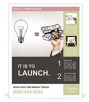 Hand drawing idea is money concept Poster Template