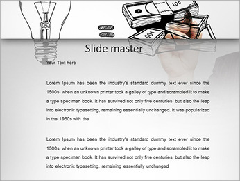 Hand drawing idea is money concept PowerPoint Templates - Slide 2